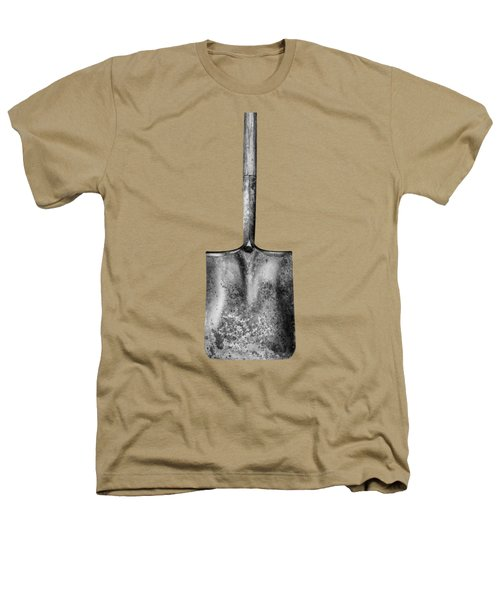 Square Point Shovel Down 3 Heathers T-Shirt by YoPedro