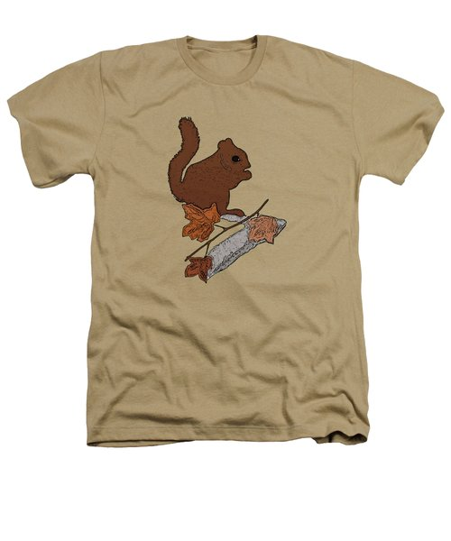 Squirrel Heathers T-Shirt by Priscilla Wolfe