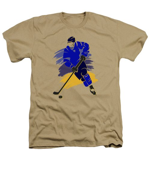 St Louis Blues Player Shirt Heathers T-Shirt by Joe Hamilton