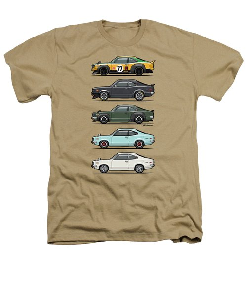 Stack Of Mazda Savanna Gt Rx-3 Coupes Heathers T-Shirt by Monkey Crisis On Mars