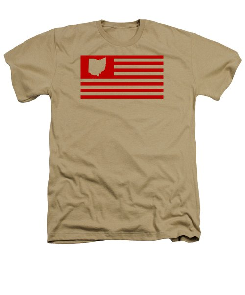 State Of Ohio - American Flag Heathers T-Shirt by War Is Hell Store