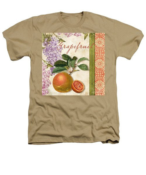 Summer Citrus Grapefruit Heathers T-Shirt by Mindy Sommers