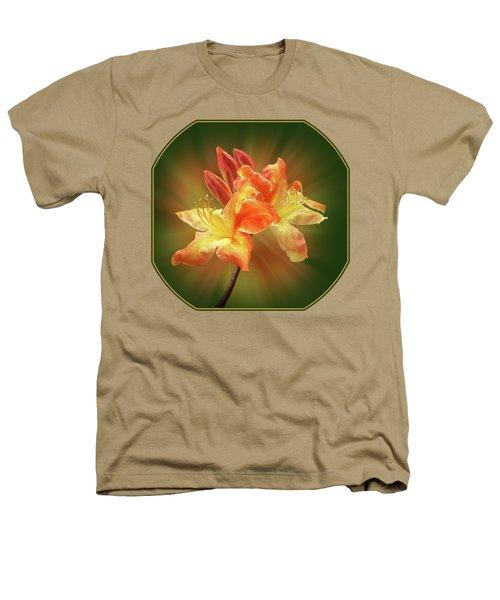 Sunburst Orange Azalea Heathers T-Shirt by Gill Billington
