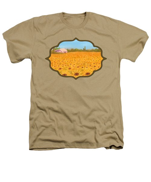 Sunflower Field Heathers T-Shirt by Anastasiya Malakhova