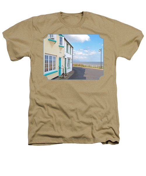 Sunny Outlook - Southwold Seafront Heathers T-Shirt by Gill Billington