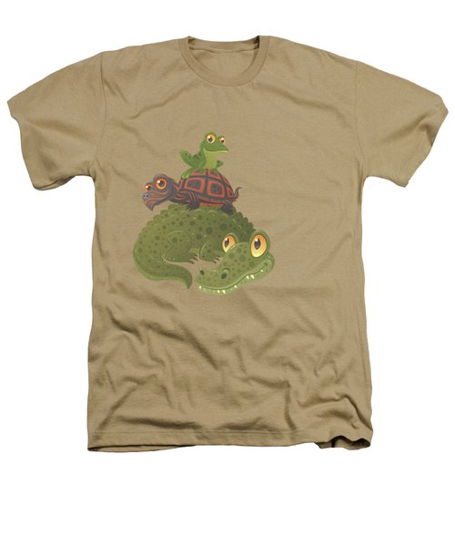 Swamp Squad Heathers T-Shirt by John Schwegel