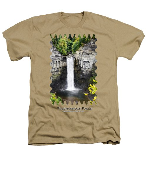 Taughannock Falls View From The Top Heathers T-Shirt by Christina Rollo
