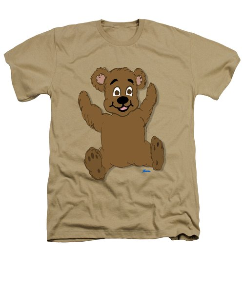 Teddy's First Portrait Heathers T-Shirt by Pharris Art