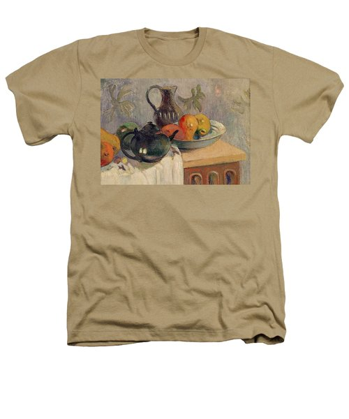 Teiera Brocca E Frutta Heathers T-Shirt by Paul Gauguin