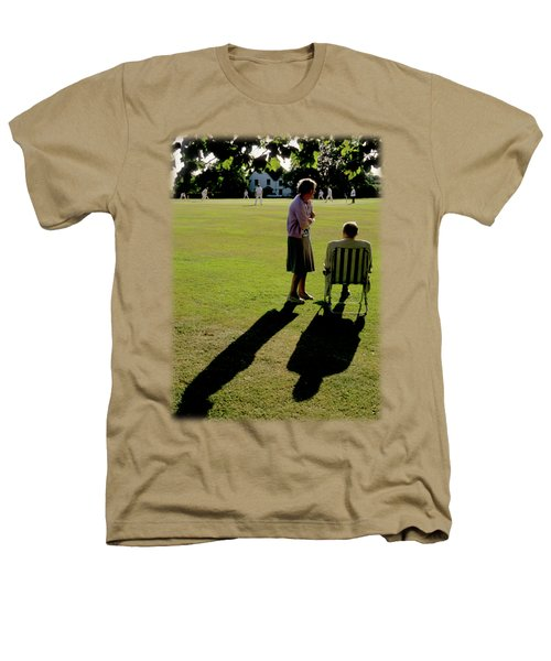 The Cricket Match Heathers T-Shirt by Jon Delorme