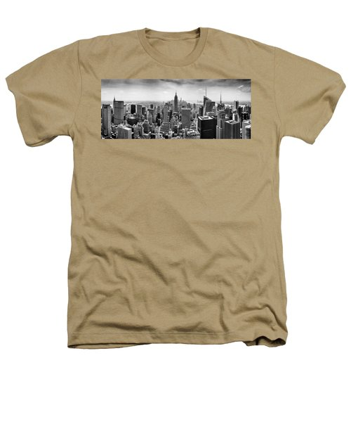 New York City Skyline Bw Heathers T-Shirt by Az Jackson