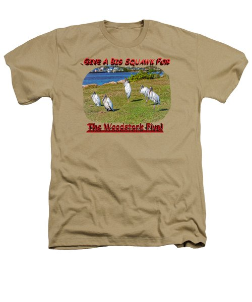 The Woodstork Five Heathers T-Shirt by John M Bailey