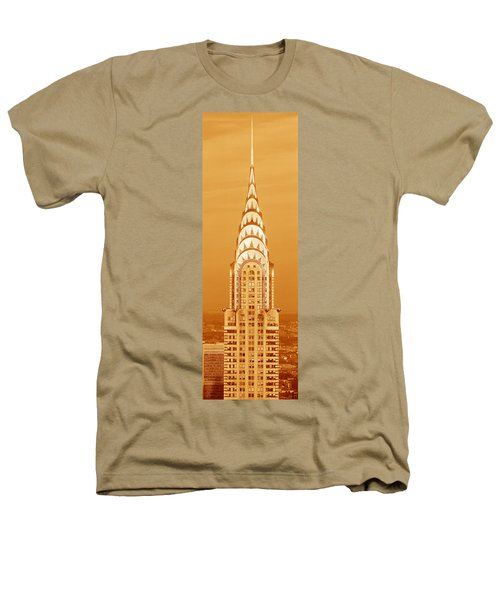 Chrysler Building At Sunset Heathers T-Shirt by Panoramic Images
