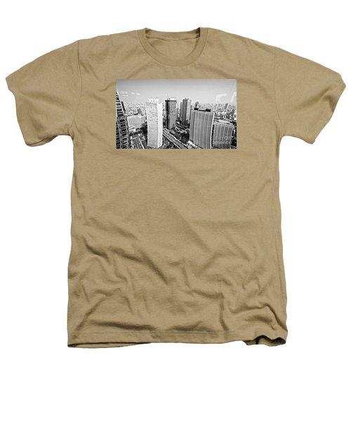 Tokyo Skyline Heathers T-Shirt by Pravine Chester