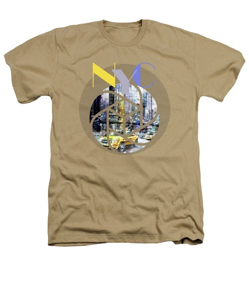 Trendy Design New York City Geometric Mix No 3 Heathers T-Shirt by Melanie Viola
