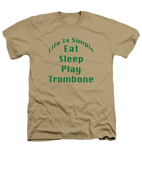 Trombone Eat Sleep Play Trombone 5517.02 Heathers T-Shirt by M K  Miller