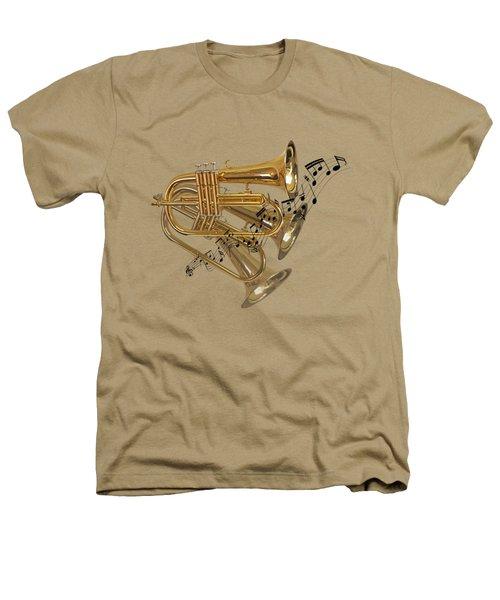 Trumpet Fanfare Heathers T-Shirt by Gill Billington