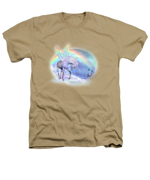 Unicorn Of The Rainbow Heathers T-Shirt by Carol Cavalaris
