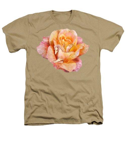 Unicorn Rose Heathers T-Shirt by Carol Cavalaris