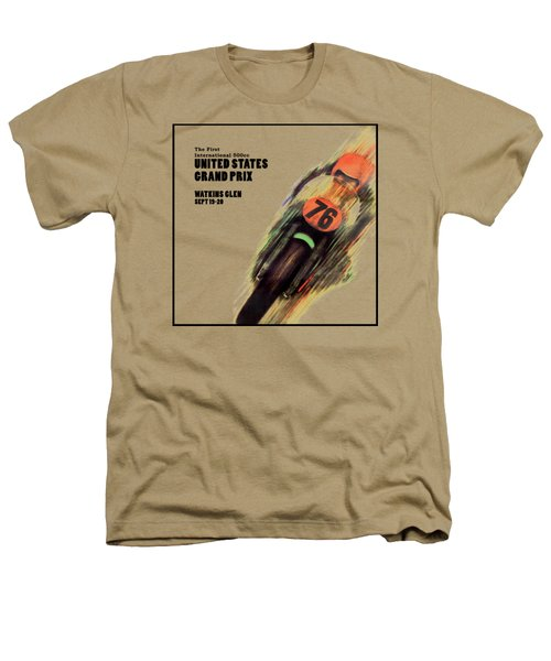 United States Grand Prix Heathers T-Shirt by Mark Rogan