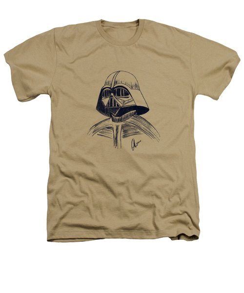 Vader Sketch Heathers T-Shirt by Chris Thomas