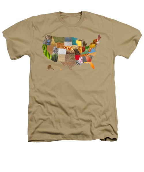 Vibrant Textures Of The United States Heathers T-Shirt by Design Turnpike