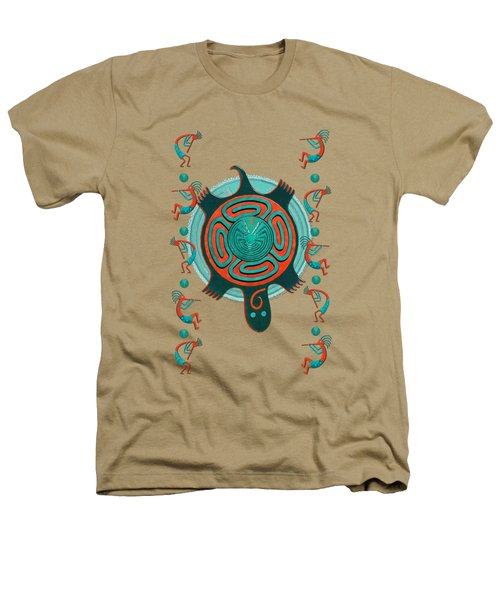 Visitors Anasazi 3d Folk Art Heathers T-Shirt by Sharon and Renee Lozen