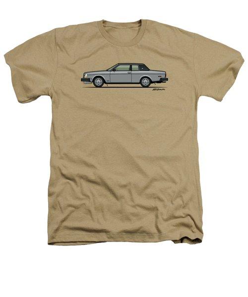 Volvo 262c Bertone Brick Coupe 200 Series Silver Heathers T-Shirt by Monkey Crisis On Mars