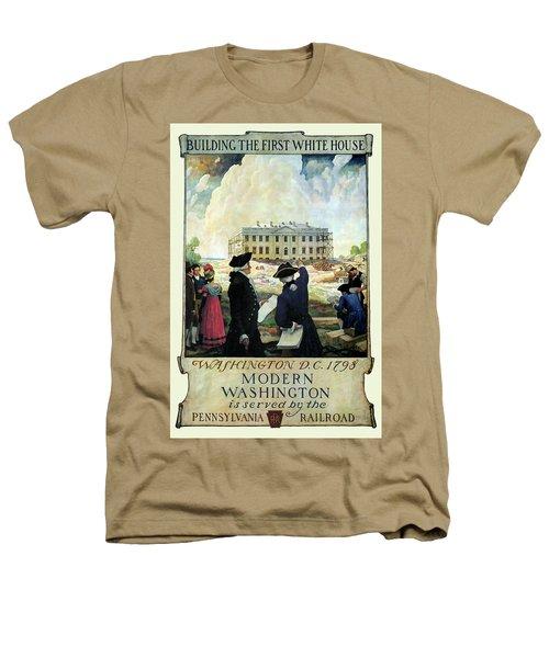 Washington D C Vintage Travel 1932 Heathers T-Shirt by Daniel Hagerman