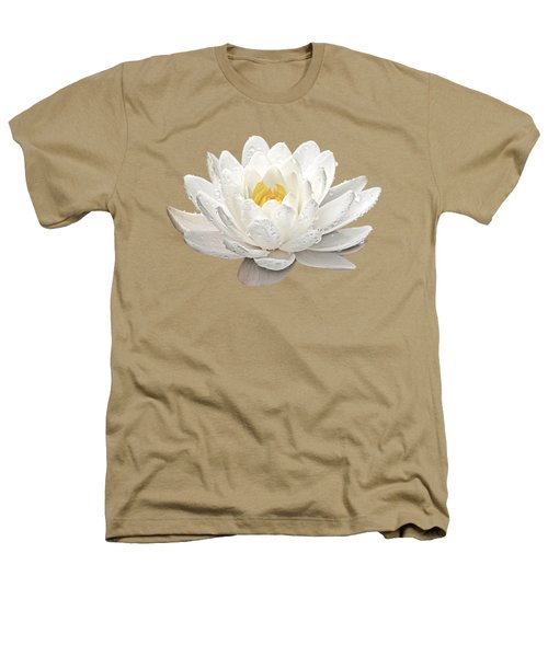 Water Lily Whirlpool Heathers T-Shirt by Gill Billington