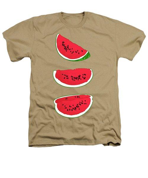 Watermelon Heathers T-Shirt by Evgenia Chuvardina