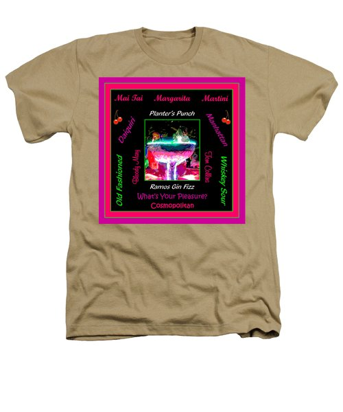 What's Your Pleasure Heathers T-Shirt by Marian Bell