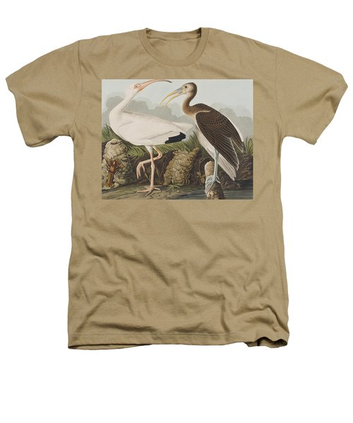White Ibis Heathers T-Shirt by John James Audubon
