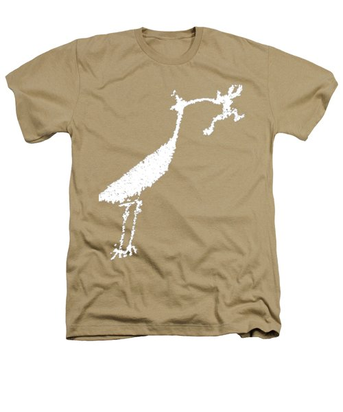 White Petroglyph Heathers T-Shirt by Melany Sarafis
