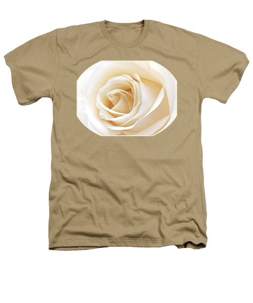 White Rose Heart Heathers T-Shirt by Gill Billington