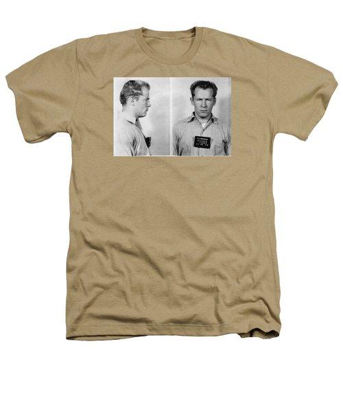 Whitey Bulger Mug Shot Heathers T-Shirt by Edward Fielding