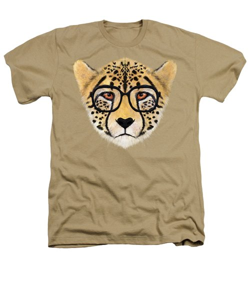 Wild Cheetah With Glasses  Heathers T-Shirt by David Ardil