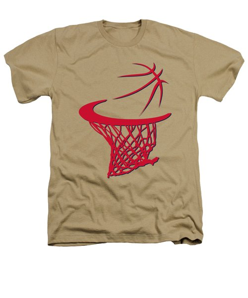 Wizards Basketball Hoop Heathers T-Shirt by Joe Hamilton