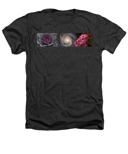 Cabbage With Galaxy And Pink Flowers Heathers T-Shirt by Panoramic Images
