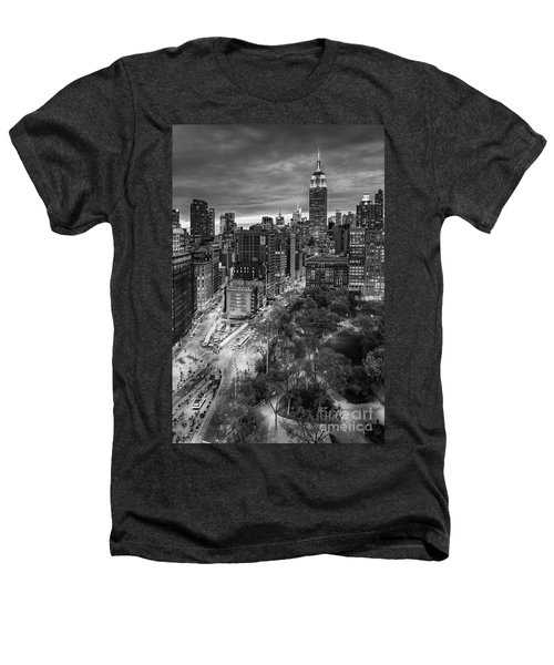Flatiron District Birds Eye View Heathers T-Shirt by Susan Candelario
