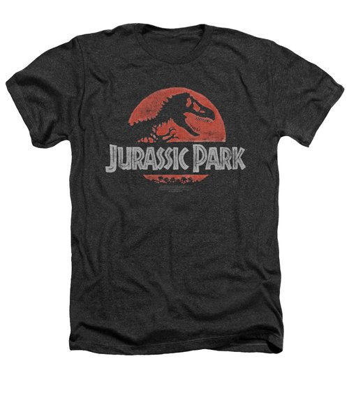 Jurassic Park - Faded Logo Heathers T-Shirt by Brand A