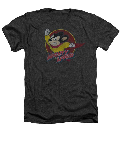 Mighty Mouse - Mighty Circle Heathers T-Shirt by Brand A