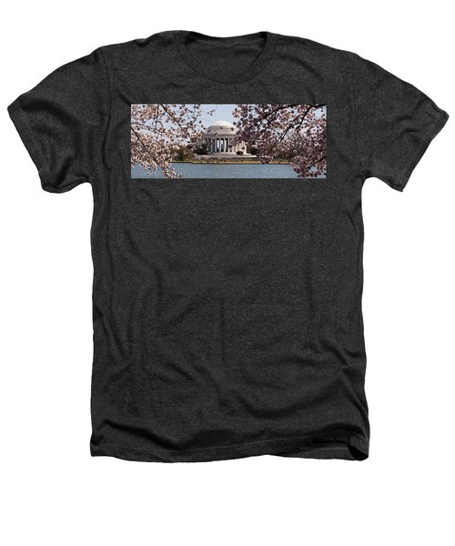 Cherry Blossom Trees In The Tidal Basin Heathers T-Shirt by Panoramic Images