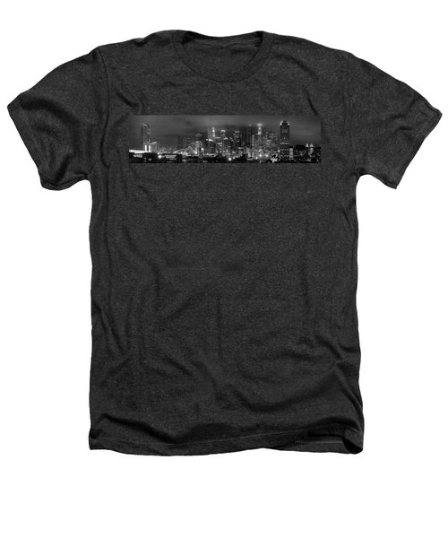 Gotham City - Los Angeles Skyline Downtown At Night Heathers T-Shirt by Jon Holiday