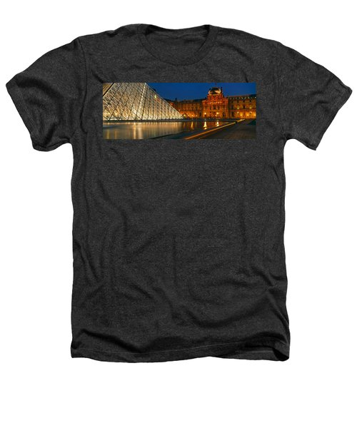 Pyramid At A Museum, Louvre Pyramid Heathers T-Shirt by Panoramic Images