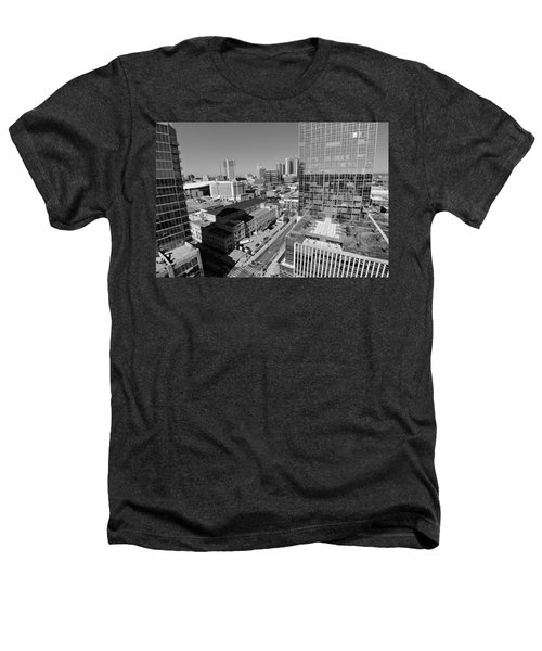 Aerial Photography Downtown Nashville Heathers T-Shirt by Dan Sproul
