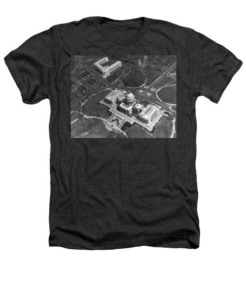 Aerial View Of U.s. Capitol Heathers T-Shirt by Underwood Archives