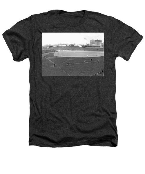 Baseball At Yankee Stadium Heathers T-Shirt by Underwood Archives