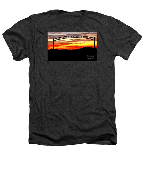 Beautiful Sunset And Emmett Sport Comples Heathers T-Shirt by Robert Bales