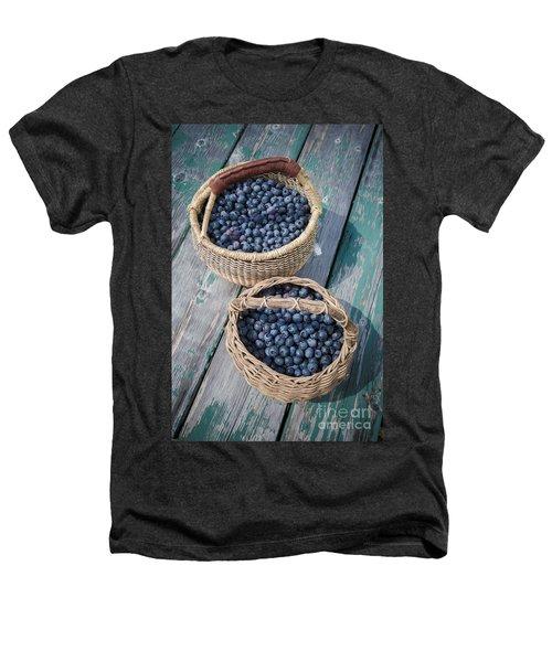 Blueberry Baskets Heathers T-Shirt by Edward Fielding